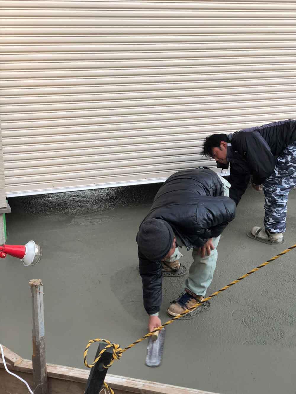 コンクリート土間 施工レポート
