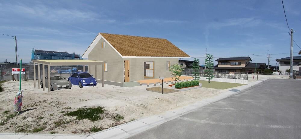 南相馬市原町区大木戸分譲地① セカンドハウスに平屋の間取りを考えてみます。