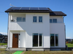 モデルハウス太陽光